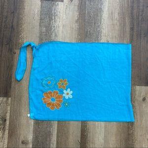 Sheer Blue Floral Sarong